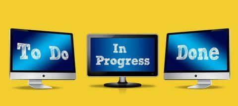 organizzazione to do in progress done